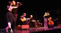 Band auf der Bühne, links neben ihnen ein Tango-Tanzpaar, Quelle: DTF