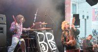 Musiker von Baba Zula haben Spaß auf der Bühne, Quelle: DTF