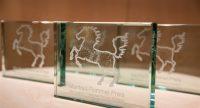 Glasplaketten des Preises, Quelle: DTF
