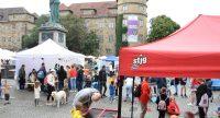 Buntes Treiben auf dem Schillerplatz beim Kinderfest, Quelle: DTF, Fotograf/in: Kerim Arpad