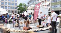 Mitmachaktion beim Stuttgarter Kinderfest auf dem Marktplatz, Quelle: DTF, Fotograf/in: Kerim Arpad