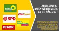 Landtagswahl 2021 Positionen der Kandidatinnen, Quelle: DTF