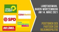 Landtagswahl 21 Bildungspolitik, Quelle: DTF