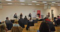 Podiumsgespräch zur Stuttgarter Oberbürgermeisterwahl, Quelle: DTF